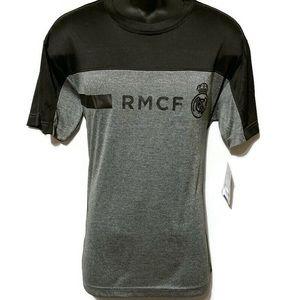 Real Madrid Men's Active Black & Gray T-Shirt